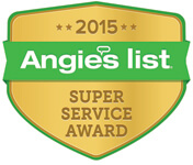 Angies List 2015 Super Service Award Badge